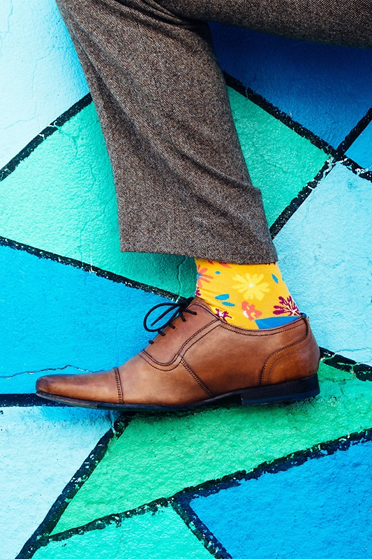 Fresh Floral Yellow Sock Photo (2)