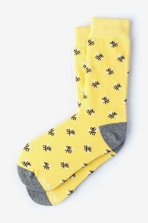 Just Bee Yourself Yellow Women's Sock