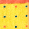 Yellow Carded Cotton Long Beach Dots Sock