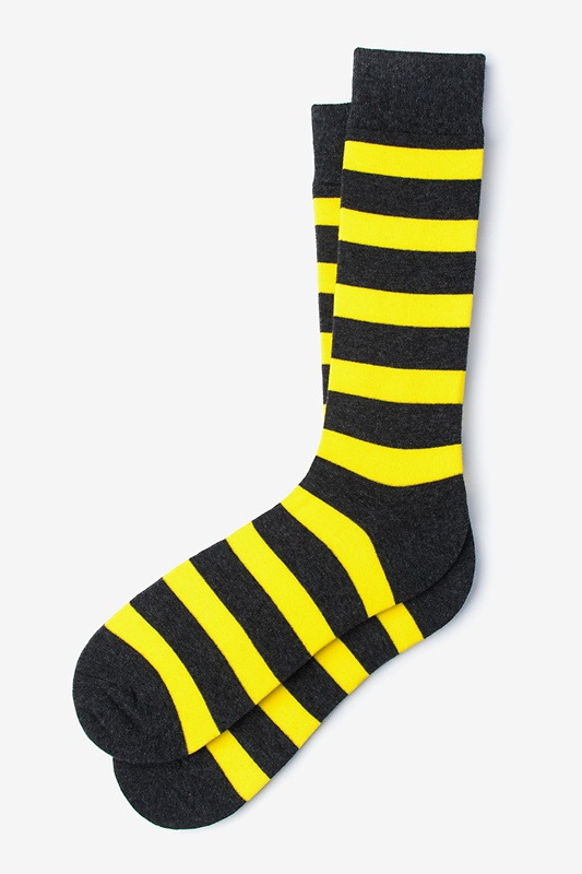 Rugby Stripe Yellow Sock Photo (0)