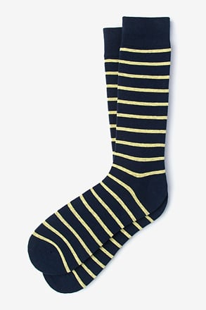 Virtuoso Stripe Yellow Sock