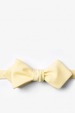Denver Yellow Diamond Tip Bow Tie