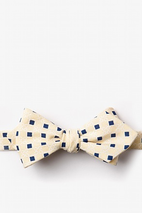 Jamaica Yellow Diamond Tip Bow Tie