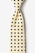 Yellow Cotton Jamaica Extra Long Tie