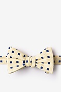 Yellow Cotton Jamaica Self-Tie Bow Tie