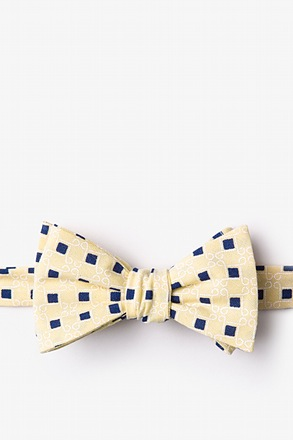 _Jamaica Yellow Self-Tie Bow Tie_