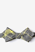 Yellow Cotton Kirkland Diamond Tip Bow Tie