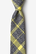 Yellow Cotton Kirkland Extra Long Tie