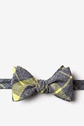 Yellow Cotton Kirkland Self-Tie Bow Tie