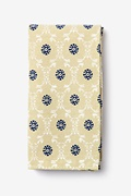 Yellow Cotton La Grande Pocket Square