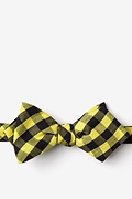 Yellow Cotton Pasco Diamond Tip Bow Tie