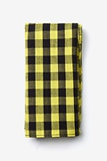 Yellow Cotton Pasco Pocket Square