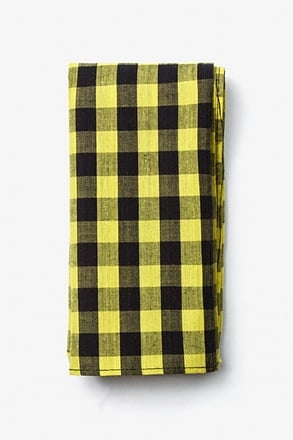 Pasco Yellow Pocket Square