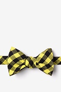 Yellow Cotton Pasco Self-Tie Bow Tie