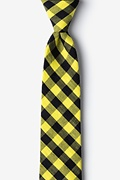 Yellow Cotton Pasco Skinny Tie