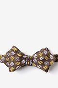 Yellow Cotton Roseburg Diamond Tip Bow Tie
