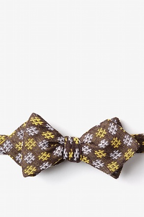 Roseburg Yellow Diamond Tip Bow Tie
