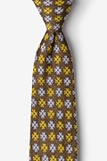 Yellow Cotton Roseburg Extra Long Tie