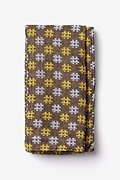 Yellow Cotton Roseburg Pocket Square