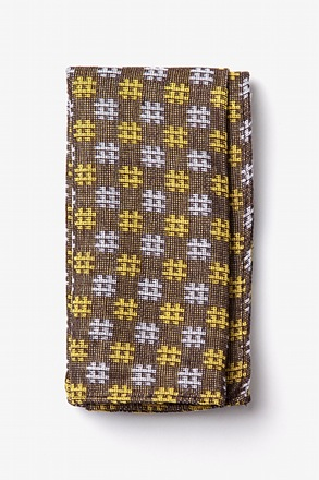 Roseburg Yellow Pocket Square