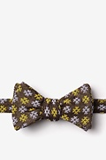 Yellow Cotton Roseburg Self-Tie Bow Tie
