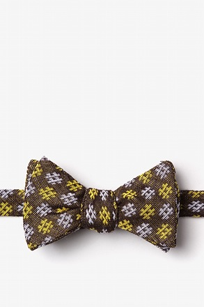 Roseburg Yellow Self-Tie Bow Tie