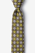 Yellow Cotton Roseburg Skinny Tie
