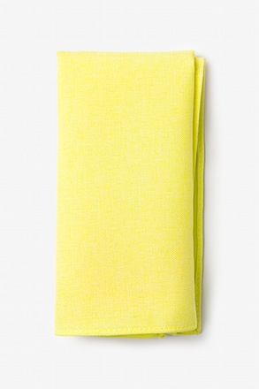 Tioga Yellow Pocket Square