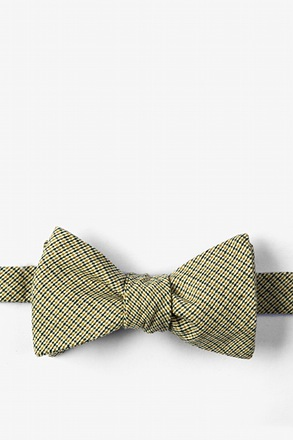Yellow Andrew Plaid Butterfly Bow Tie