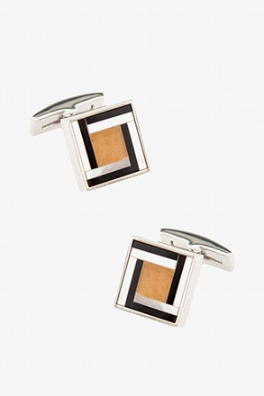 _Cadwell Square Yellow Cufflinks_