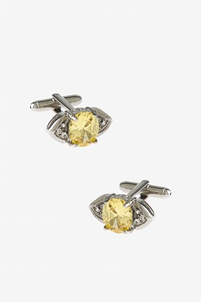 Glitzy Diamond Eye Cufflinks