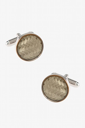 Reflective Check Cufflinks