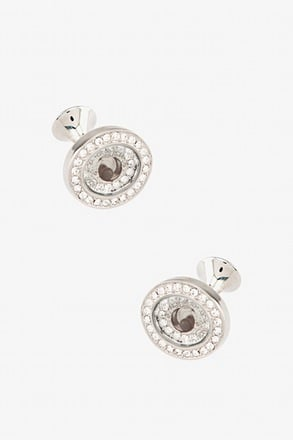 Rhinestone Encrusted With Orb Cufflinks