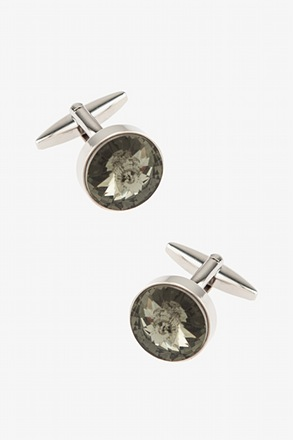 _Round Elemental Yellow Cufflinks_