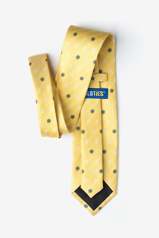 Anchors & Ships Wheels Yellow Tie Photo (1)