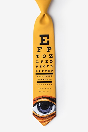 Eye Chart Yellow Tie