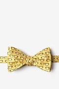 Yellow Microfiber Four Eyes Self-Tie Bow Tie
