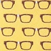 Yellow Microfiber Four Eyes Tie