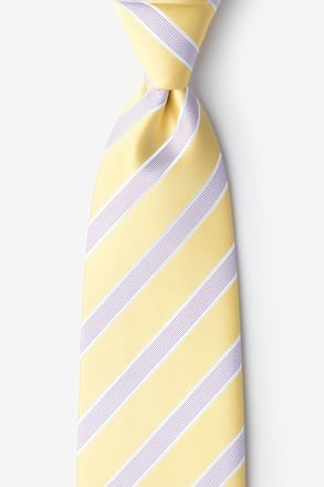 Jefferson Stripe Yellow Extra Long Tie