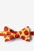 Yellow Microfiber The Pizza Butterfly Bow Tie