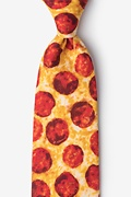 Yellow Microfiber The Pizza Extra Long Tie