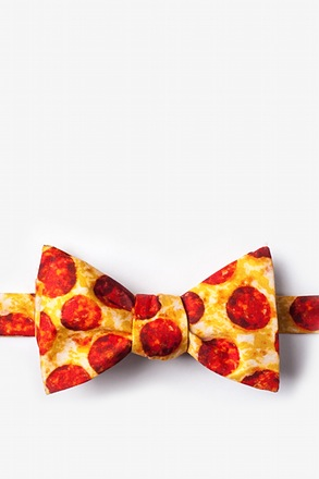 The Pizza Self-Tie Bow Tie