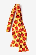 The Pizza Yellow Self-Tie Bow Tie Photo (1)