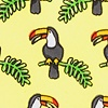 Yellow Microfiber Toucans Extra Long Tie