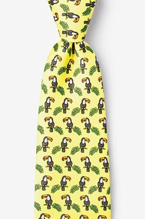 _Toucans Yellow Extra Long Tie_