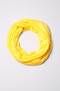 Boston Solid Yellow Infinity Scarf by Scarves.com