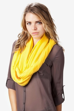 Boston Solid Yellow Infinity Scarf