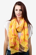 Bow Tied Yellow Scarf by Scarves.com