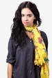 Yellow Polyester Flight of the Butterflies Scarf