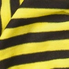 Yellow Polyester Mens Traveling Stripe Scarf